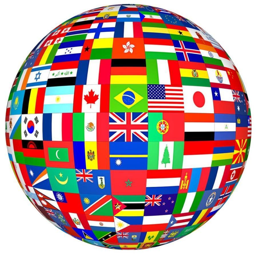 globo, bandeiras, paises