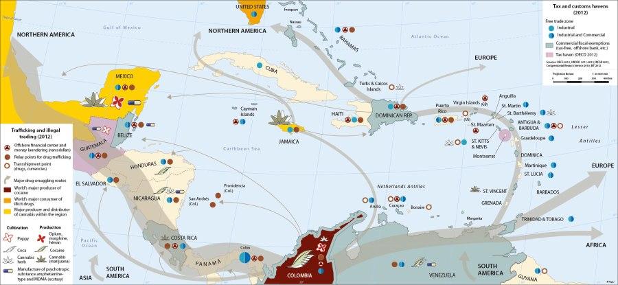 caribe, paraíso fiscal