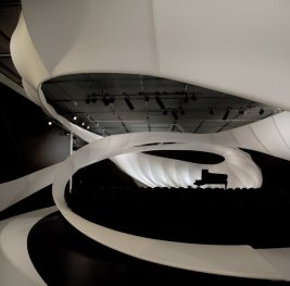 Interior da sala de concertos do Museu de Arte de Manchester.