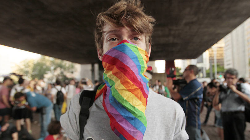 Preconceitos em SP - há uma delegacia especializada em crimes contra minorias, que inclui LGBT, na capital paulista - manifestacao-contra-levy-fidelix