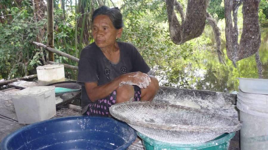 Rosa Andrade, a última mulher que falava resígaro, foi assassinada em novembro, na Amazônia peruana. EL PAÍS